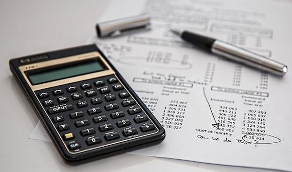 calculator and files