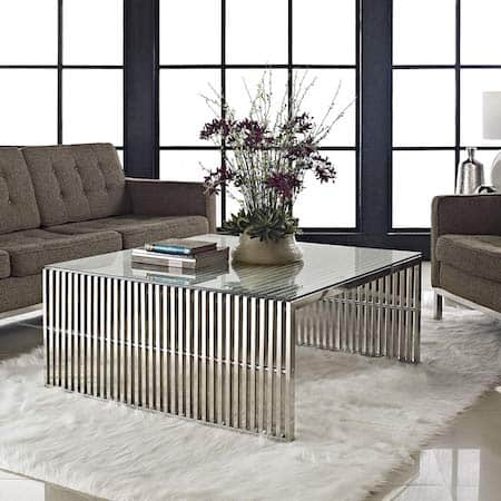 Modway metal coffee table
