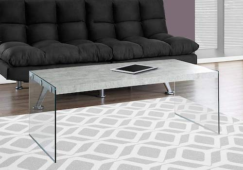 cement & glass coffee table