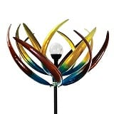 Bits and Pieces Multi-Color Solar Tulip Wind Spinner