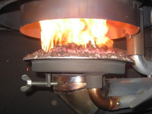 Wood-pellet heater