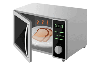 Microwave burnt smell