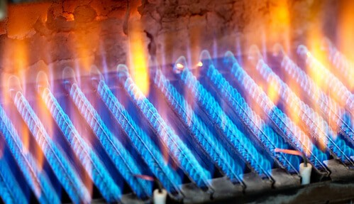 Propane heater flame