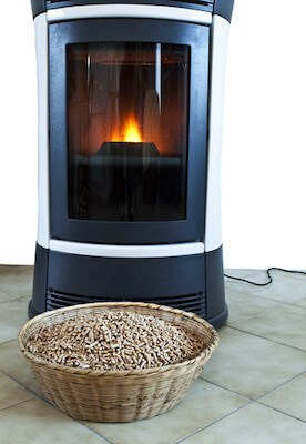 wood pellet stove and pellets