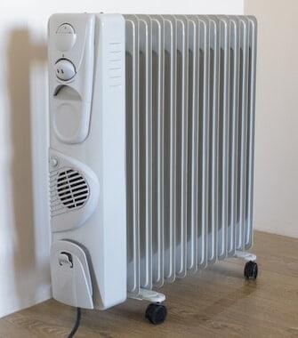 Oil radiator on laminate