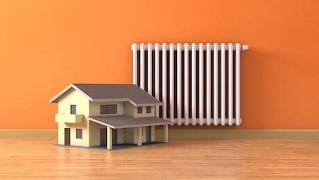 radiator heating home