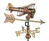 Good Directions Copper Biplane Arrow Weathervane