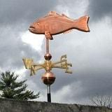 North East Weathervanes Copper Fish Weather Vane