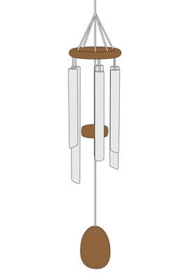 Woodstock wind chime diagram