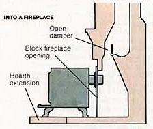 stove with damper diagram